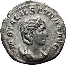 OTACILIA SEVERA wife of Philip I 247AD Rome Silver Ancient Roman Coin i70130