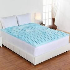 2 Orthopedic Gel Foam Mattress Topper Bed Bedding Cool Pad Protector Cover