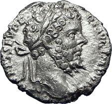 SEPTIMIUS SEVERUS 196AD Silver Authentic Ancient Roman Coin Providentia i70085