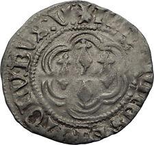1399AD FRANCE Britanny Duke JEAN V Antique Medieval Silver French Coin i71191