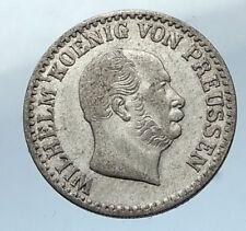 1866 A PRUSSIA KINGDOM German STATE under WILHELM I Silver Groschen Coin i66827