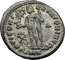 LICINIUS I Authentic Ancient Roman Original 317AD Coin JUPITER & VICTORY i70744