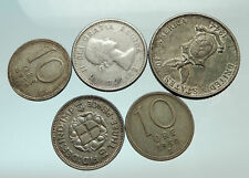 GROUP LOT of 5 Old SILVER Europe or Other WORLD Coins for your COLLECTION i75685