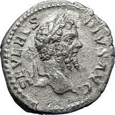 SEPTIMIUS SEVERUS 202AD Rome Authentic Ancient Silver Roman Coin Victory  i70207