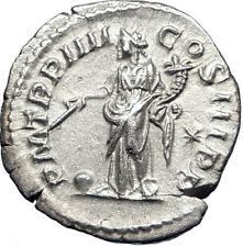 ELAGABALUS 221AD Rome Authentic Ancient Silver Roman Coin Providentia i73557
