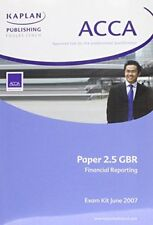 EBC acca in Coins   eBay  Very Good 1843908921 Financial Reporting  GBR  ACCA Exam Kit  Kaplan