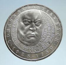 2000 GERMANY Composer Music Sebastian Bach Genuine Proof Silver 10EU Coin i75181