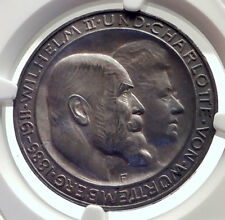 1911 GERMANY German State King Wurttemburg Silver 3 Mark Coin NGC MS 65 i71728