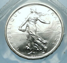 1964 FRANCE French LARGE Silver 5 Francs Coin w La Semeuse SOWER WOMAN i68206