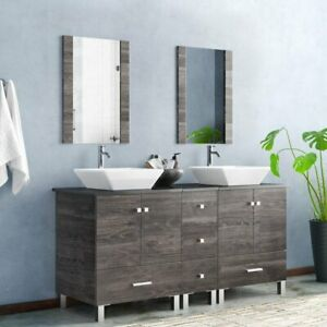 60 double bathroom vanity for sale ebay