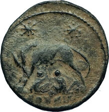 CONSTANTINE I the GREAT 330AD Romulus Remus WOLF Rome Ancient Roman Coin i66507
