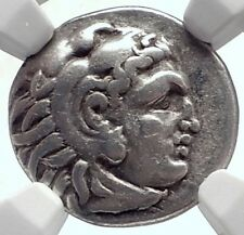 ALEXANDER III the Great 323BC Authentic Ancient Silver Greek Coin  NGC i72074