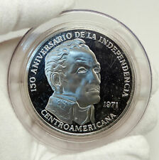 1971 PANAMA Huge 6.2cm Proof Silver 3.8oz 20 Balboas Coin w SIMON BOLIVAR i76338