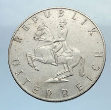 1960 AUSTRIA 5 Shilling Silver PROOF Coin Austrian w HORSE RIDER Spanish i71962