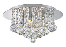 Led G9 Crystal Droplet Chandelier Style Round Classic Elegant Ceiling Light