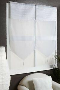 rideaux et voilages blancs en voile
