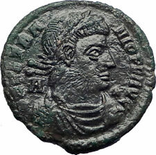 VETRANIO 350AD Ancient Roman Coin CONSTANTINE the Great CHRISTIAN Vision i73536
