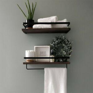 bathroom wall shelves in towel rails