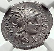 Roman Republic ROME vs Greek Seleukid King ANTIOCHOS III Silver Coin NGC i68125