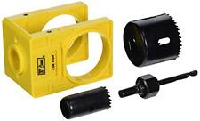 Carbon-Steel Hole Saw Drill Bit Door Knob Lock Installation Kit Tool Accessory
