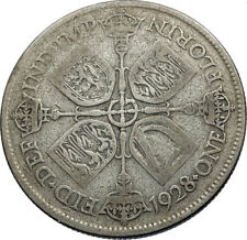 1928 United Kingdom Great Britain GEORGE V Silver Florin 2 Shillings Coin i71949