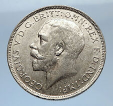 1917 United Kingdom Great Britain GEORGE V Silver Florin 2 Shillings Coin i69415