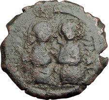 JUSTIN II & SOPHIA 565AD Constantinople Follis Ancient Byzantine Coin i62564