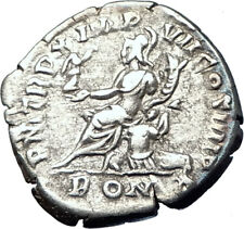 COMMODUS 184AD Rome Authentic Genuine Ancient Silver Roman Coin ROMA i73595