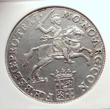 1786 NETHERLANDS Ultrecht Antique BIG 4.2cm Silver RIDER Knight Coin NGC i73302