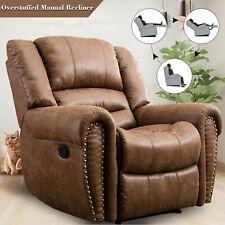 Overstuffed Recliner Chair Accent Reclining Chair Sofa Rivet Design Home Theater