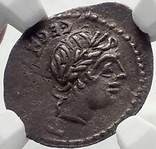 Roman Republic Ancient Silver Coin of Rome APOLLO TROPHY Quinarius NGC i70174