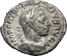 ELAGABALUS  sacrificing over altar 221AD Rome Ancient Silver Roman Coin i69739