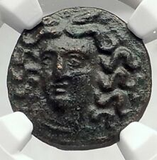 LARISSA in THESSALy 300BC Authentic Ancient Greek Coin NYMPH & HORSE NGC i72346