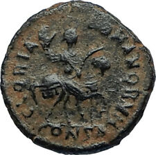 THEODOSIUS I the Great HORSE Authentic Ancient Constantinople Roman Coin i67010