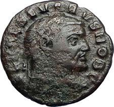 SEVERUS II 305AD Rare Quarter Follis Authentic Ancient Roman Coin GENIUS i67370