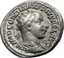 GORDIAN III 242AD Rome Authentic Original  Ancient Silver Roman Coin i67349