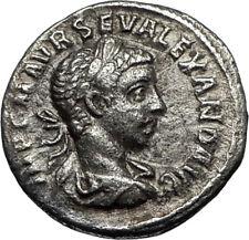SEVERUS ALEXANDER 223AD Antioch Ancient Silver Roman Coin Loyalty Pietas  i67035