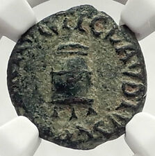 CLAUDIUS - Genuine 41AD Rome Food MODIUS Authentic Ancient Roman Coin NGC i73322