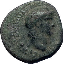NERO 62AD Balkan mint Rare Large Ancient Roman Coin VICTORY on globe  i73222