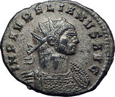 AURELIAN 272AD  Authentic Silvered  Ancient Roman Coin JUPITER w globe  i73392