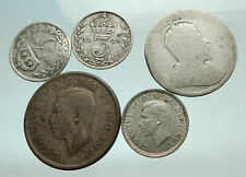 GROUP LOT of 5 Old SILVER Europe or Other WORLD Coins for your COLLECTION i75696