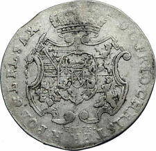 1763 GERMANY German States SAXONY ELECTORATE Genuine Antique Silver Coin i71775