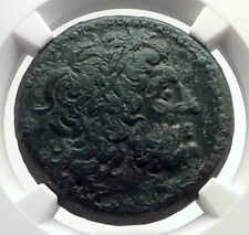 PTOLEMY II of Egypt RARE SICILY Issue Under Hieron II Greek Coin NGC i71720