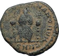 EUDOXIA Arcadius Wife 400AD Authentic Ancient Roman Coin GOD's HAND CROSS i67638