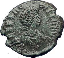 AELIA FLACILLA Ancient Roman Coin VICTORY Cult CHI-RHO Christ monogram  i73420