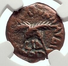 CLAUDIUS & AGRIPPINA Jr Ancient Roman Jerusalem ANTONIUS FELIX Coin NGC i70647