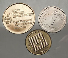 70s-80s ISRAEL Group Uncirculated Mint Coins and/or Tokens Collection Lot i57027