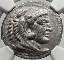 ALEXANDER III the GREAT 332BC Tetradrachm Silver Ancient Greek Coin NGC i64149