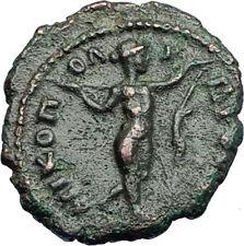 SEPTIMIUS SEVERUS Nicopolis ad Istrum Roman Coin APOLLO LIZARD STATUE i71020