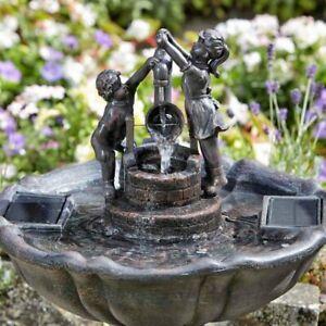 garden water ornaments in garden